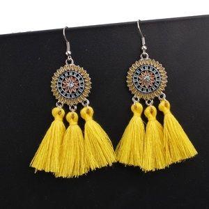 boho style tassel earring